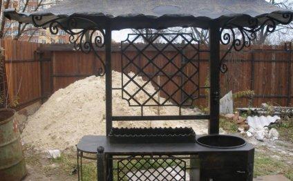 мангал с печкой и крышей