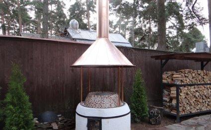 Установка и вентиляция мангала