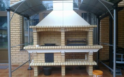 Как построить печь-барбекю на